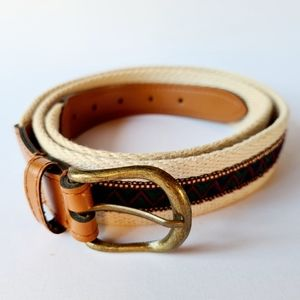 Vintage Fashion Ribbon & Canvas Belt Length 108cm